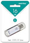USB Flash 16 GB Smart Buy V-Cut (Цвет: серебро)
